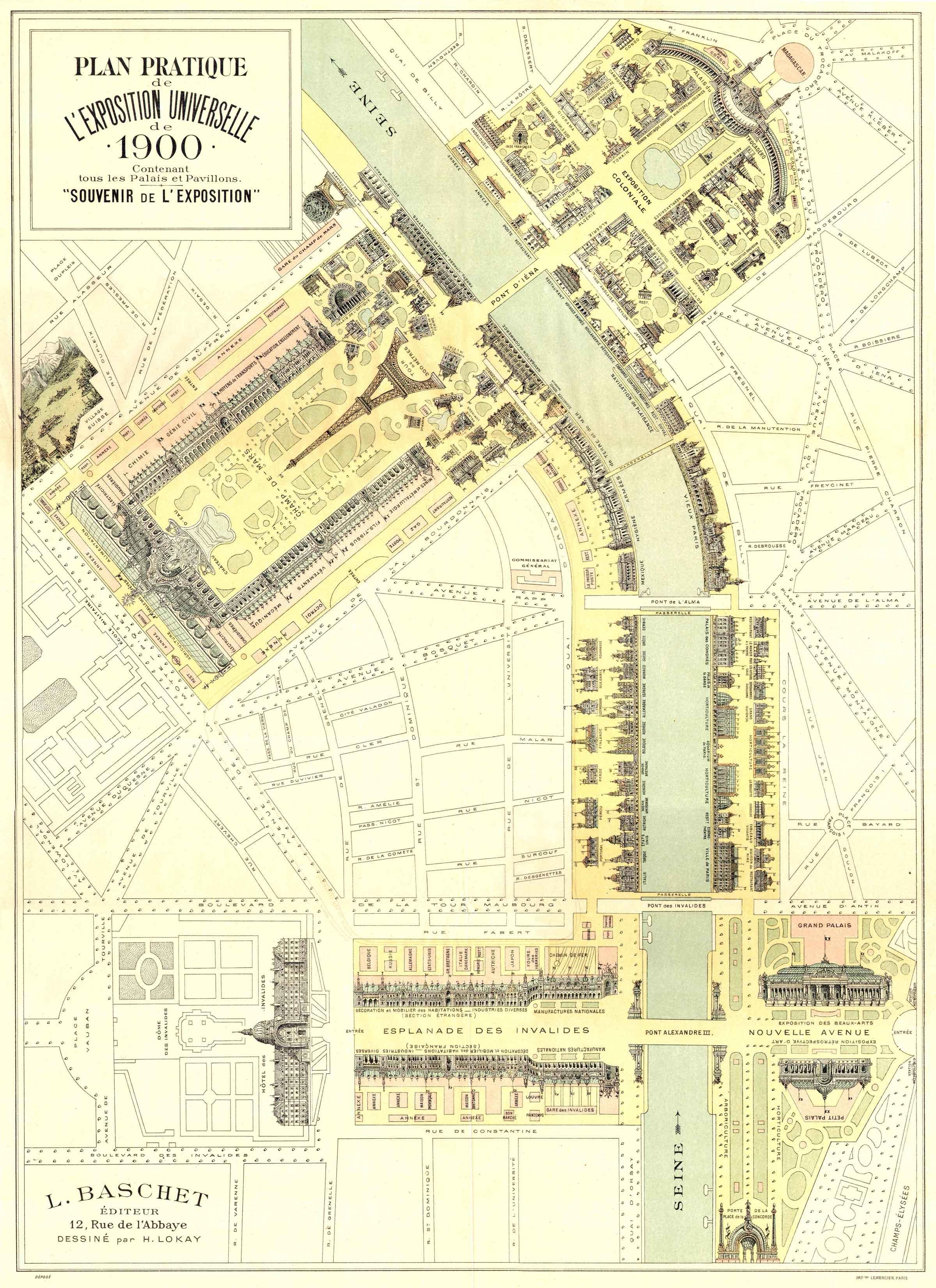 plan de l'exposition universelle de 1900